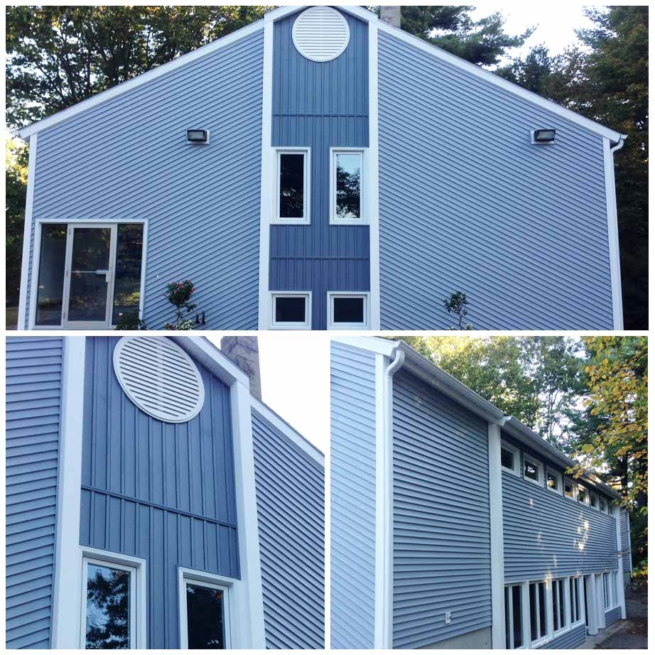 Photo of blue siding
