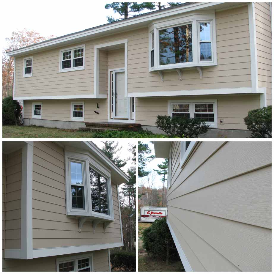 Photo of cream siding
