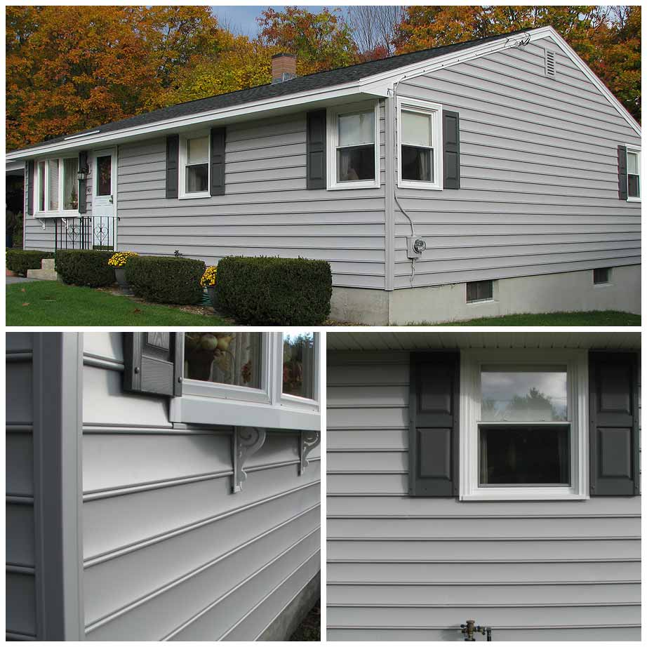 Photo of gray siding